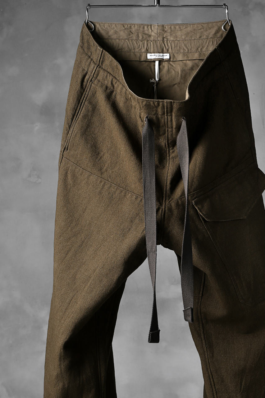 sus-sous wide trousers MK-1 / C60L40 4/1 cloth (BROWN KHAKI)