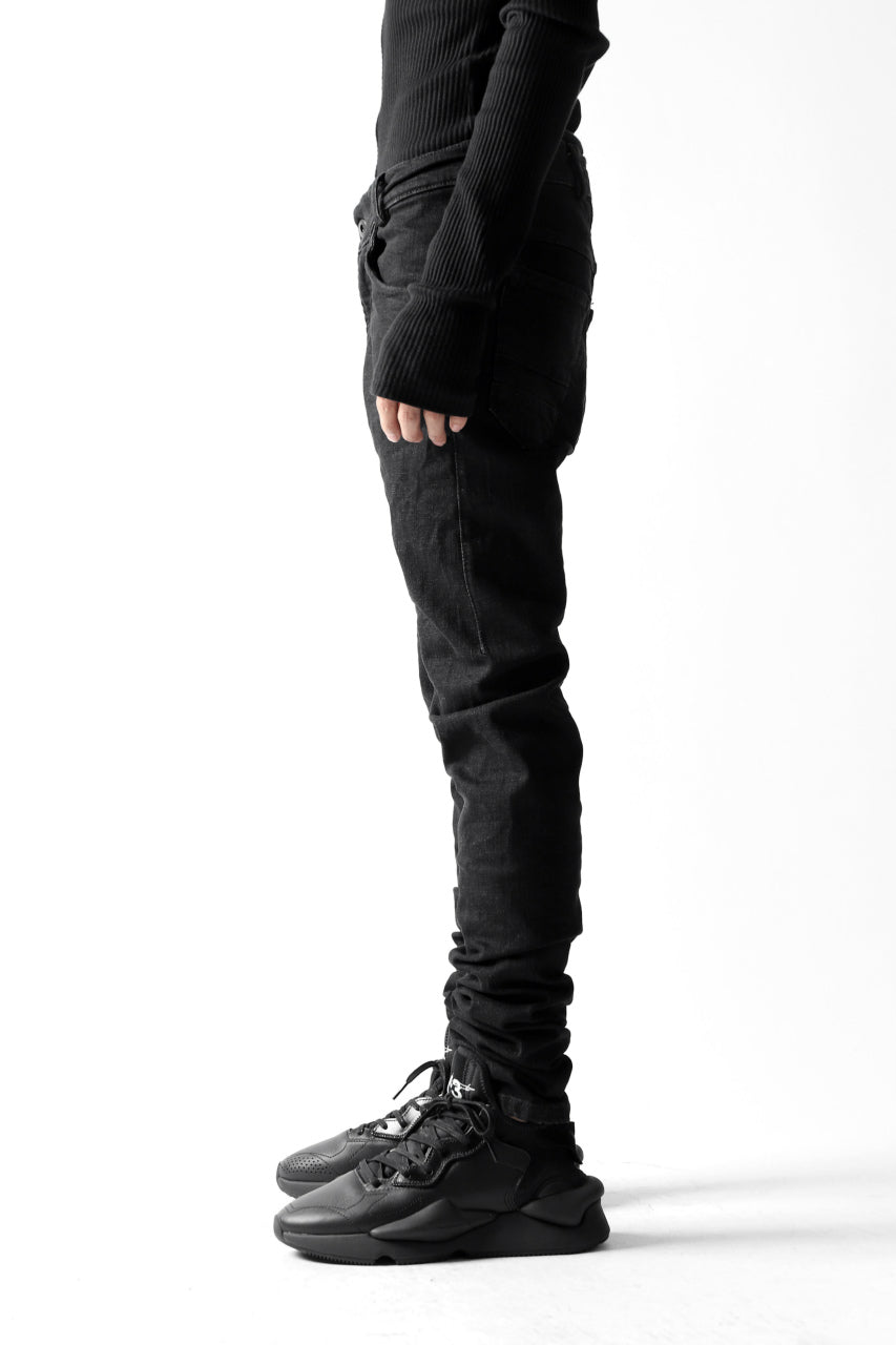 "VERSUCHSKIND ""TIGHT"" COLD DYED DENIM / CRUSHED BLACK"