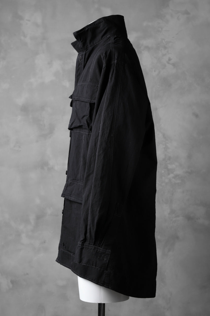 A.F ARTEFACT MILITARY COVER ALL SHIRT-JKT (BLACK)