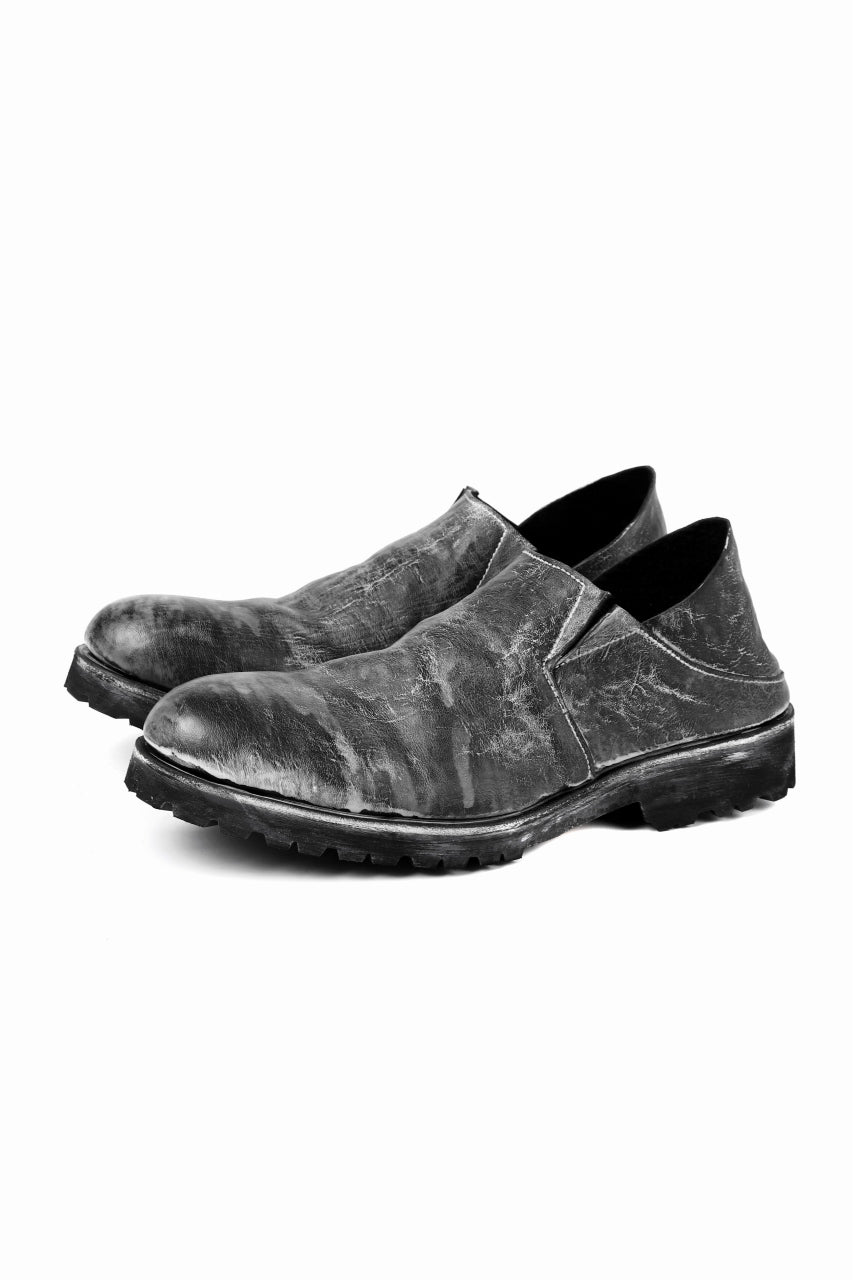 Portaille exclusive PL5 VB Slipon Shoes / HS horse waxy heavy (BLACK)