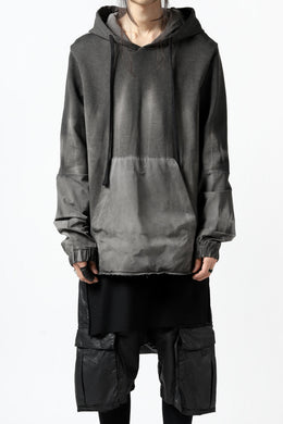 thomkrom DYEING SWITCH PULLOVER HOODIE (COLD DYE BLACK)