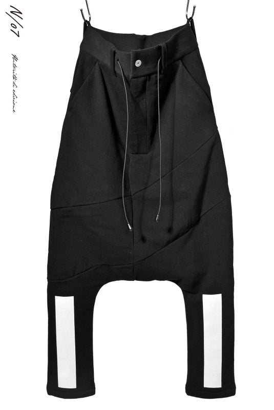 N/07 RUBBERIZED SARROUEL PANT / HYPER STRETCH SWEAT (BLACK)