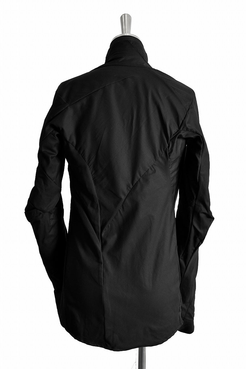 LEON EMANUEL BLANCK DISTORTION SHIRT JACKET / DRY WAX COATING (BLACK)