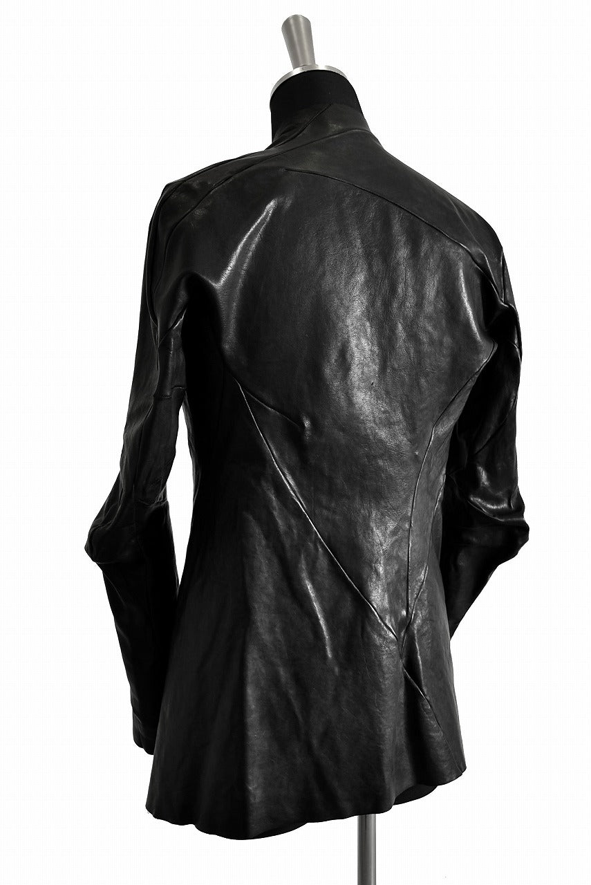 LEON EMANUEL BLANCK DISTORTION SHORT BLAZER / GUIDI OILED HORSE (BLACK)