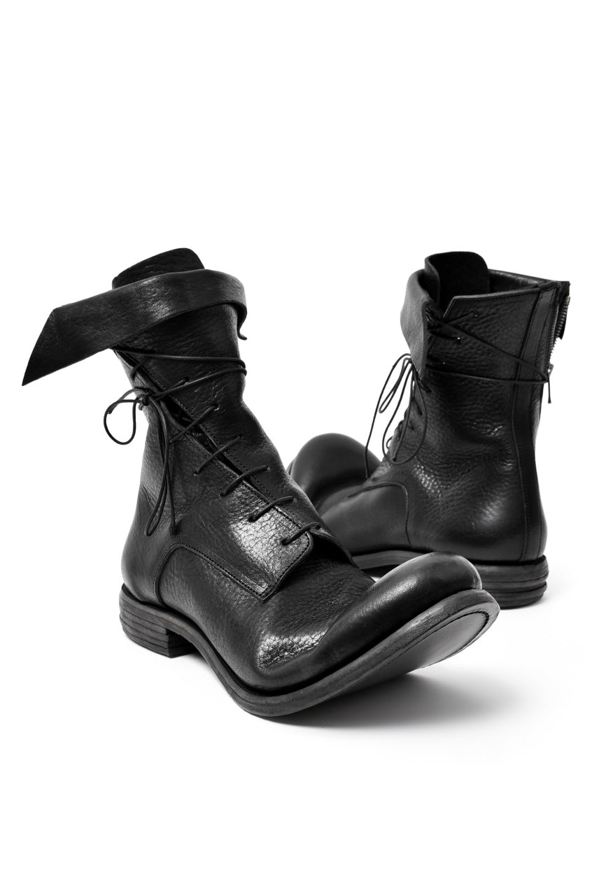 "prtl x 4R4s exclusive Twisted Lace Boots / Waxy Steer ""No4-2"" (BLACK)"