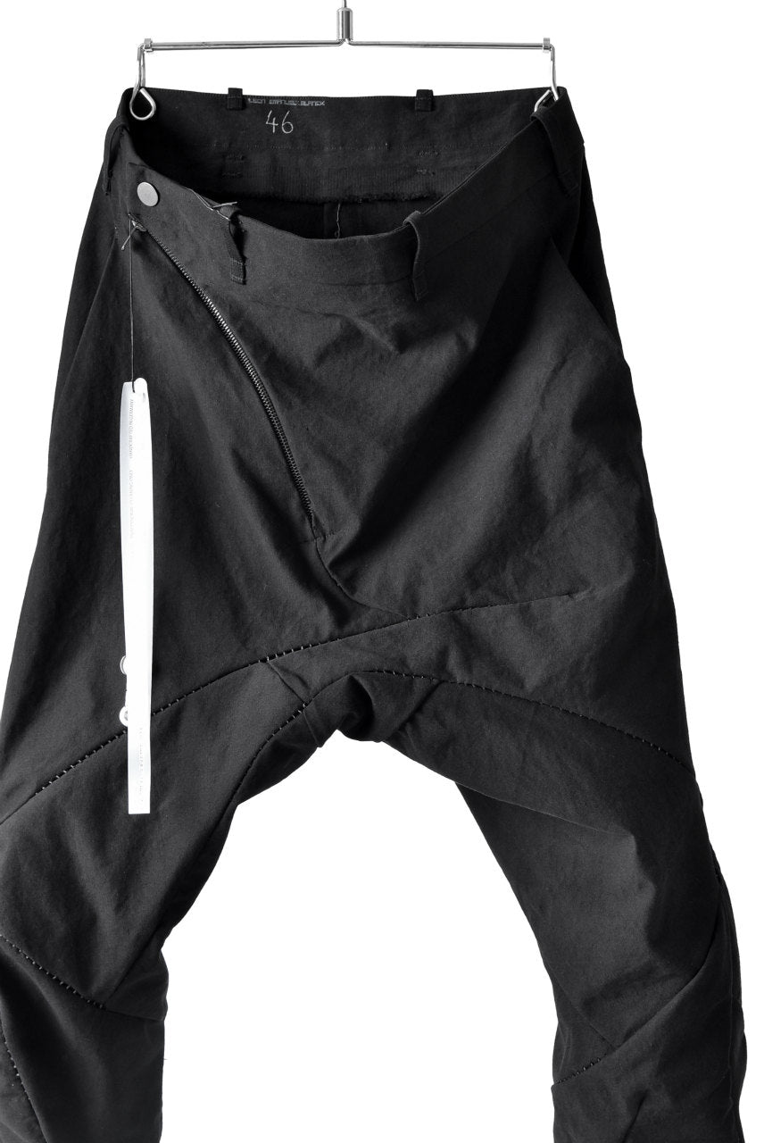 LEON EMANUEL BLANCK DISTORTION 3 QUARTER CHEM PANTS / OCTOTHORPE DIAMOND WEAVE (BLACK)