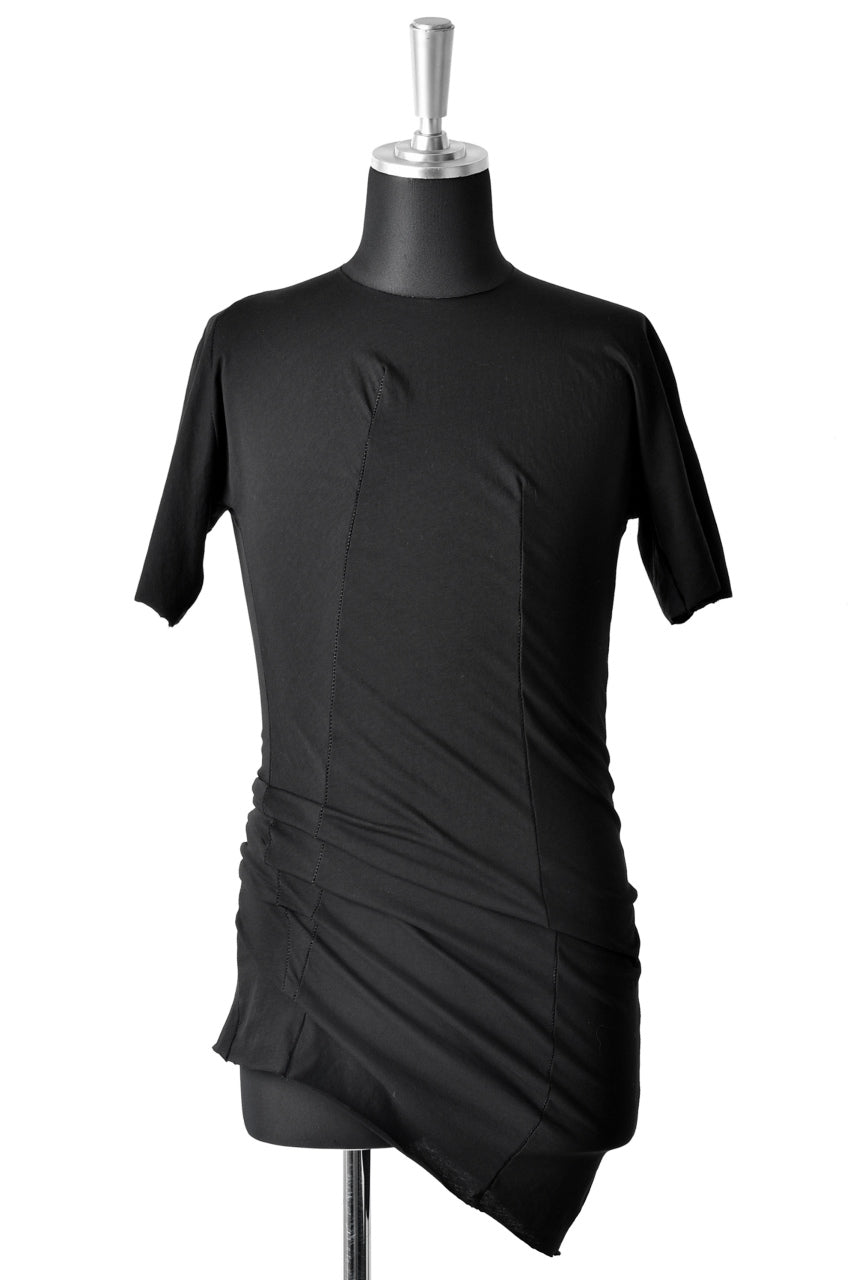 LEON EMANUEL BLANCK DISTORTION FITTED T / STABLE COTTON JERSEY (BLACK)