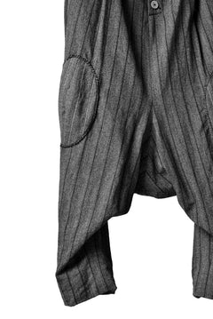 Load image into Gallery viewer, SOSNOVSKA KNEE STITCHED PANTS (GREY STRIPE)