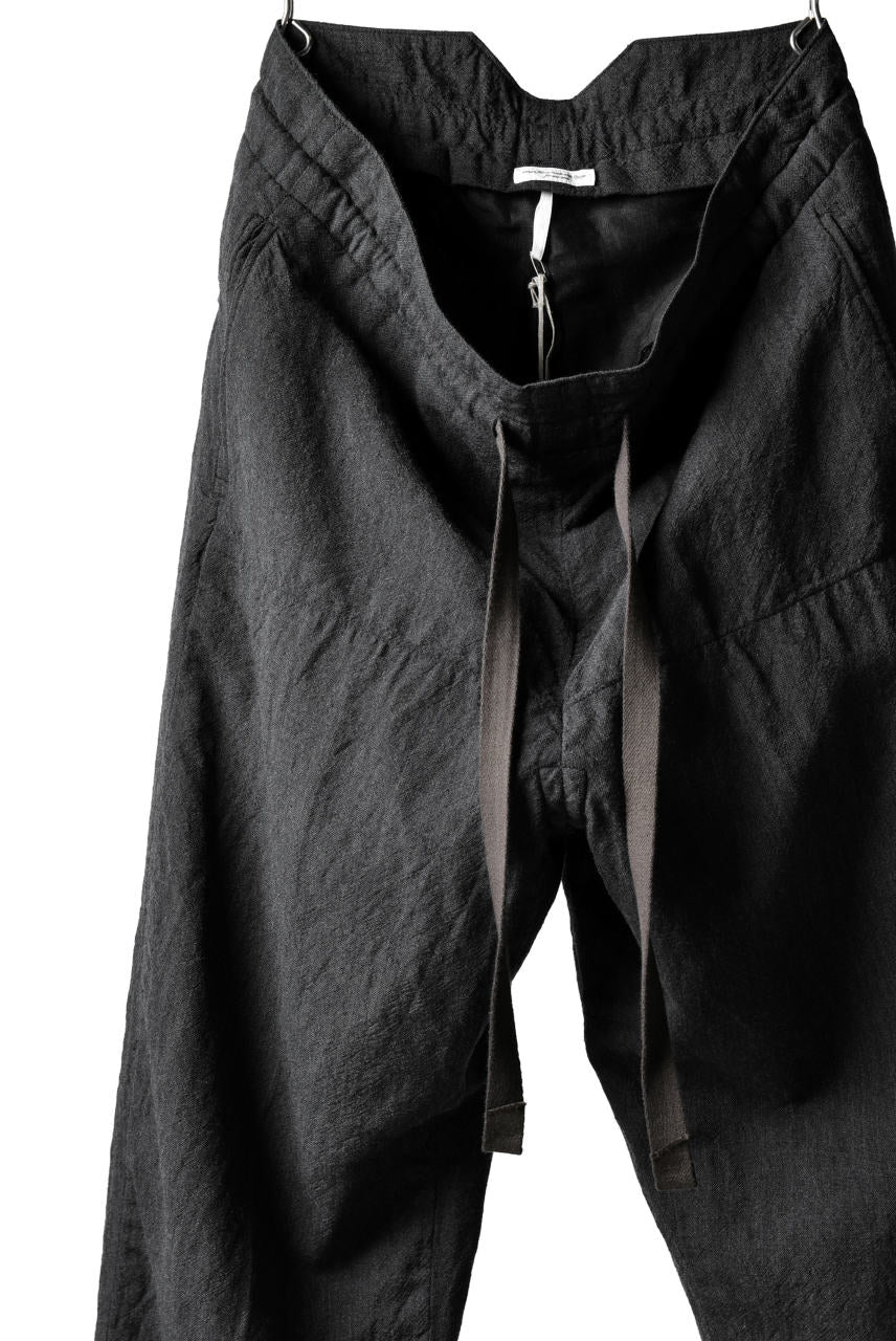 Load image into Gallery viewer, sus-sous tapared trousers W.D / OX made with oyagi (NAVY GREY)