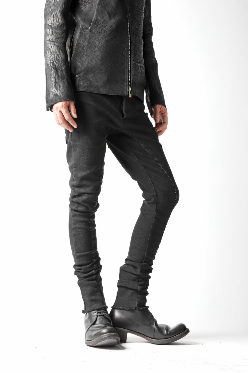 thomkrom OVERLOCKED BIAS FRONT SKINNY / STRETCH DENIM (BLACK)