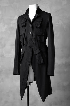 画像をギャラリービューアに読み込む, RUNDHOLZ DIP MILITARY POCKETS PINGU COAT (BLACK DYED)