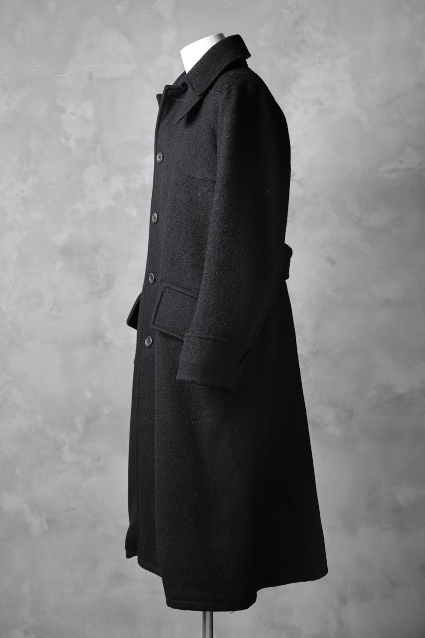 sus-sous foot guards great coat / W90N10 Raised back melton (NAVY BLACK)