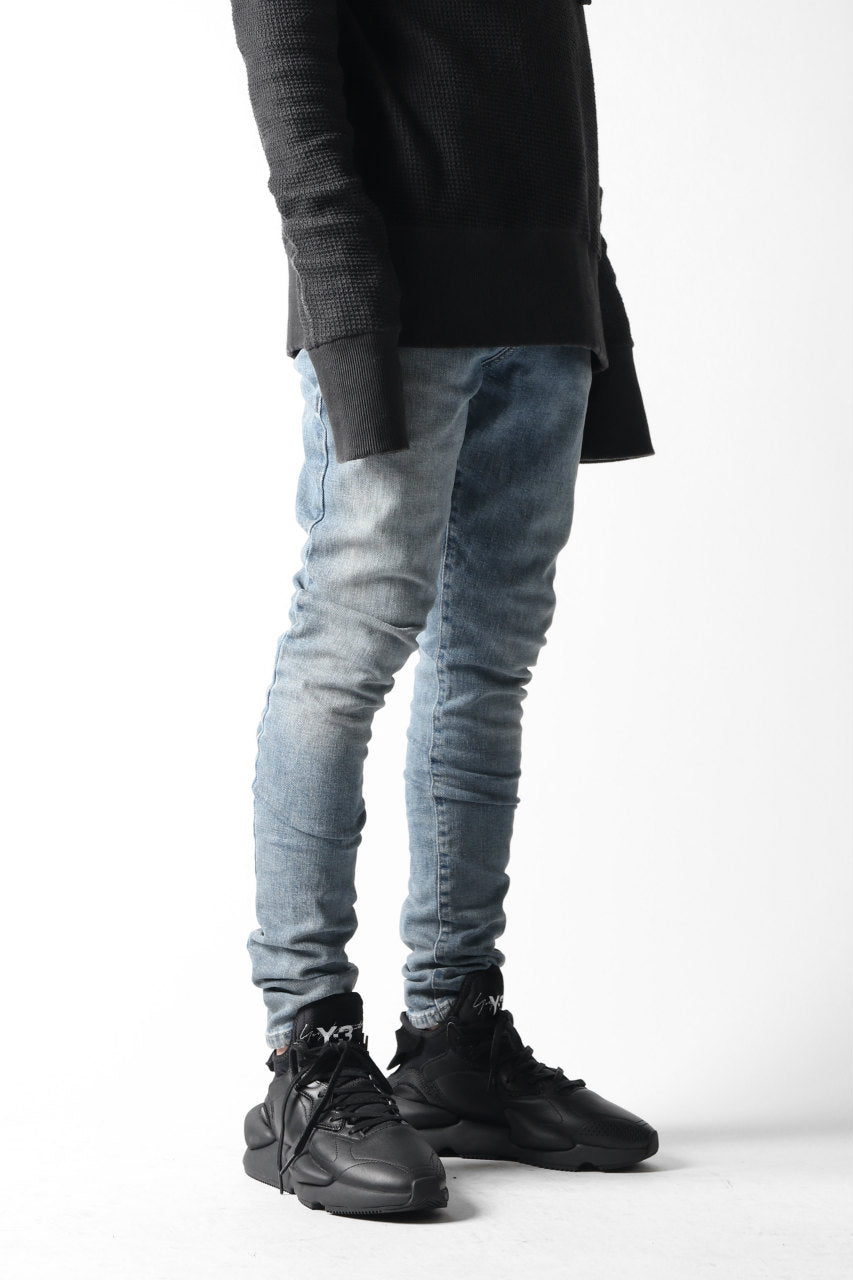 "VERSUCHSKIND ""X"" STONEWASHED & SLIGHTLY UPPER DYED DENIM / LIGHT BLUE"