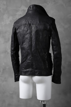 画像をギャラリービューアに読み込む, incarnation exclusive MILITARY ZIP JACKET OBJECT DYE/TANNED HORSE (BLACK)