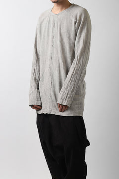 画像をギャラリービューアに読み込む, MAVRANYMA RAGLAN L/S TUNICA TOPS / ORGANIC RAW COTTON (DYED GREY)