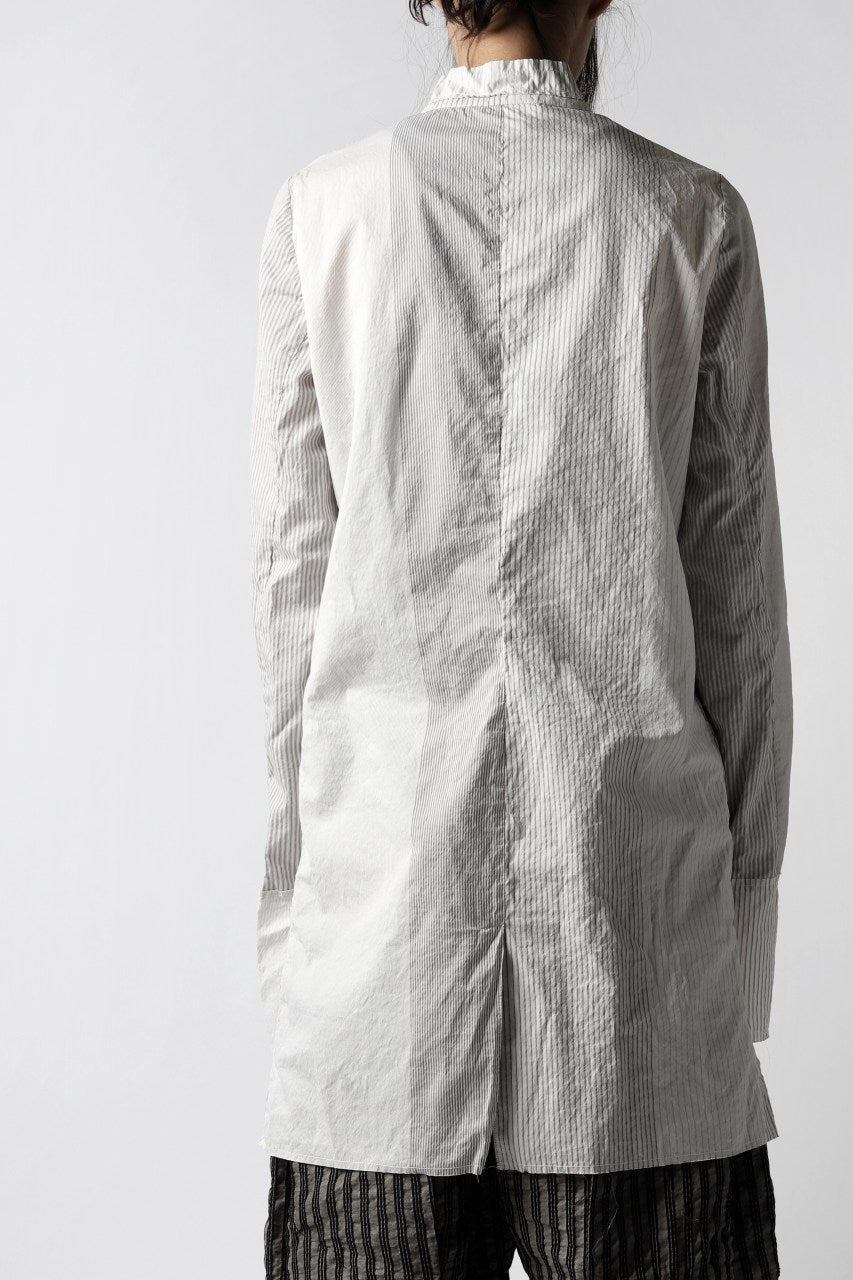 un-namable exclusive Lazarus Shirt / Silky Cotton Stripe (NATURAL)