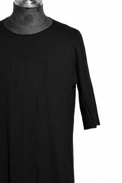 画像をギャラリービューアに読み込む, LEON EMANUEL BLANCK DISTORTION REVERSIBLE T-SHIRT / COTTON HEMP (BLACK)