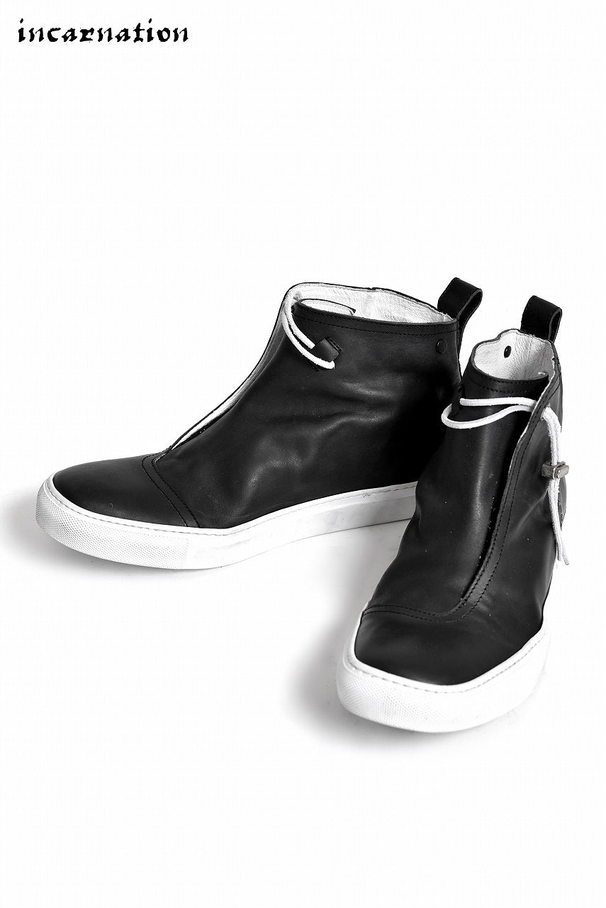 "incarnation ""HORSE LEATHER"" WRAP FRONT MID SNEAKER LINED"