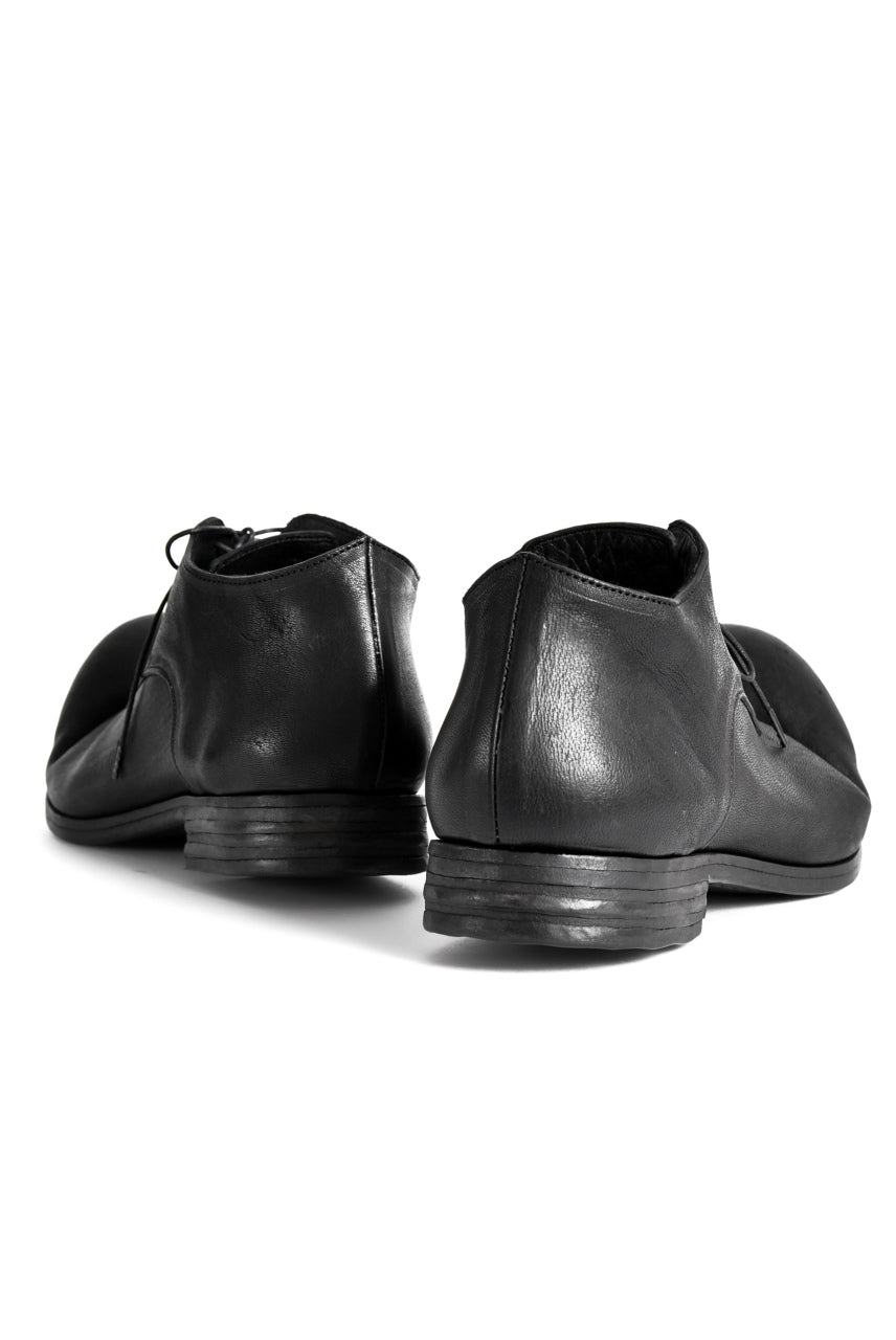 "prtl x 4R4s exclusive Derby Shoes / Yezo Deer ""No 3-3M"" (BLACK)"