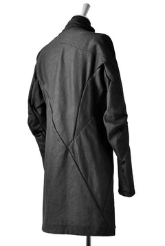 画像をギャラリービューアに読み込む, LEON EMANUEL BLANCK DISTORTION SHORT TRENCH COAT / CORDUROY (BLACK)