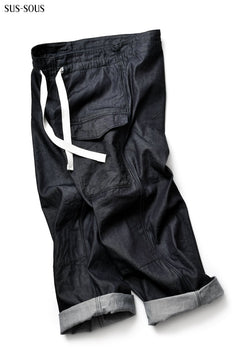 Load image into Gallery viewer, sus-sous supima denim wide trousers MK-1 (INDIGO)