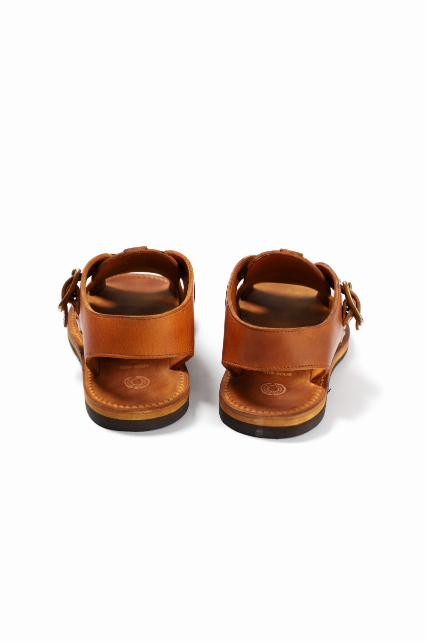Load image into Gallery viewer, sus-sous sandal shoes / italy oiled cow leather *hand dyed (NATURAL)