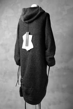 画像をギャラリービューアに読み込む, SOSNOVSKA exclusive DRAPED COCOON LONGSLEEVE HOODIE KNIT  (GREY)
