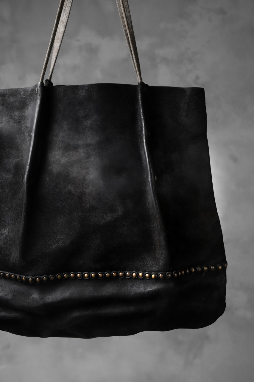 Chörds; ST.R. TOTE BAG / REVERSED HORSE BUTT (BLACK)