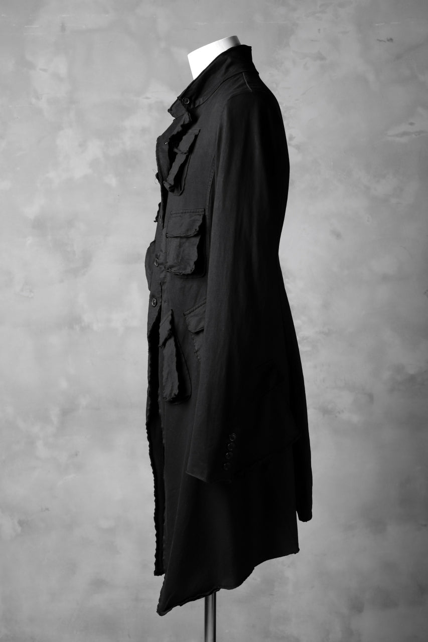 RUNDHOLZ DIP MILITARY POCKETS PINGU COAT (BLACK DYED)