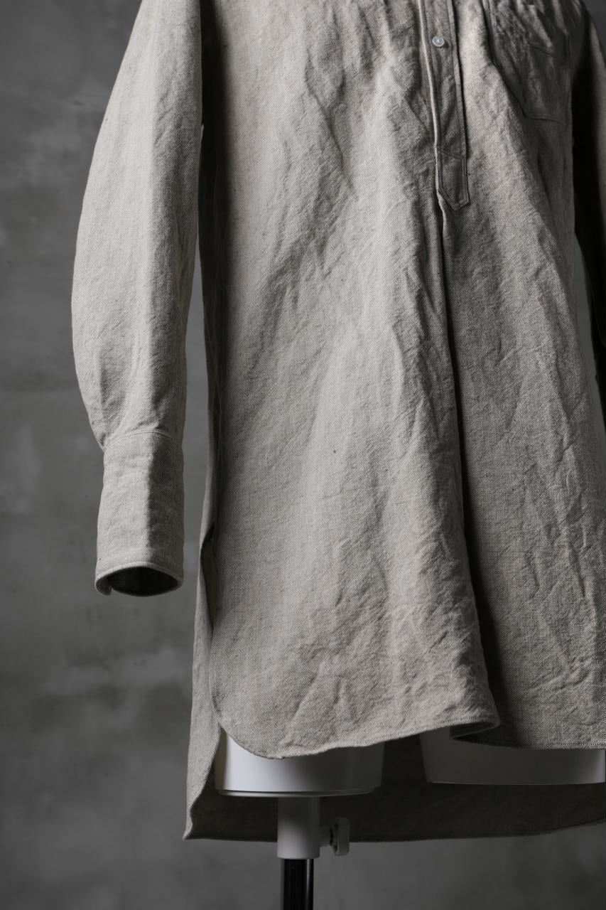 画像をギャラリービューアに読み込む, sus-sous band collar shirt / C44L56 High density poplin (SAND BEIGE)