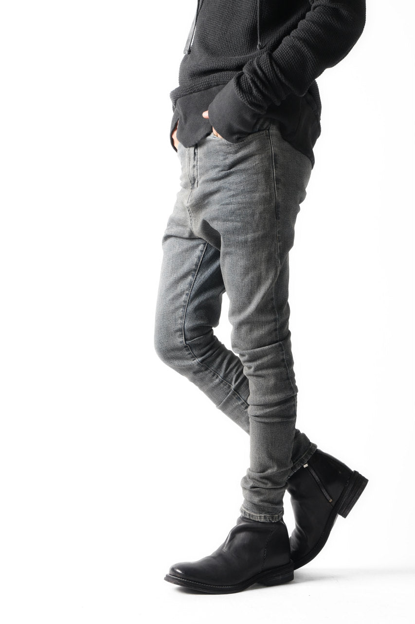 "Load image into Gallery viewer, VERSUCHSKIND ""X"" UPPER COLD DYED DENIM / GREY-BLUE"