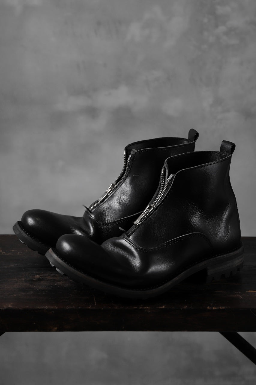 "Portaille ""one make"" Albert Front Zip Boots (Vachetta TCG) / BLACK)"