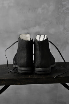 "画像をギャラリービューアに読み込む, prtl ""one make"" Lace Up Boots (JAPAN Cow Reversed Leather / Hand Dyed BLACK)"