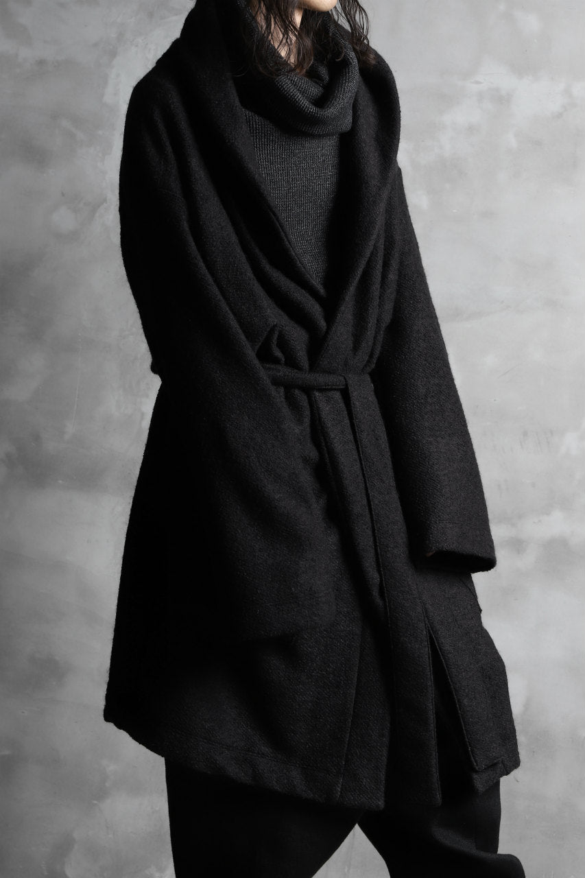 A.F ARTEFACT exclusive WARM GOWN COAT / COMPRESSED KNIT BOUCLE