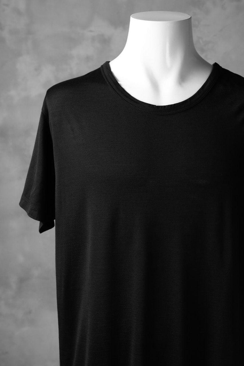 COLINA WASHABLE SILK TEE (BLACK)