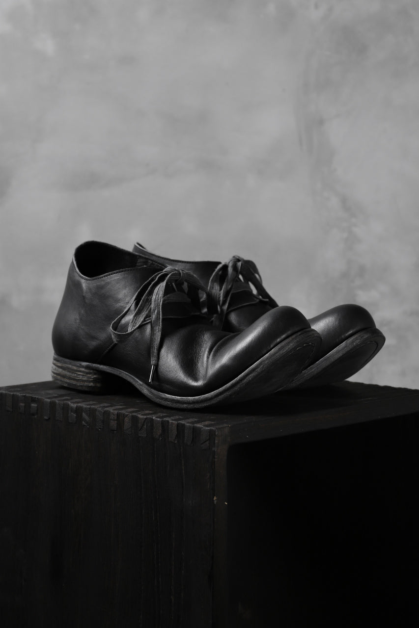 Portaille exclusive PL20 Derby Shoes (ROMANERO Soft Horse / BLACK)