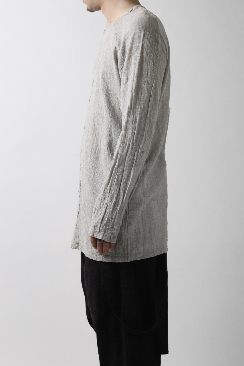 MAVRANYMA RAGLAN L/S TUNICA TOPS / ORGANIC RAW COTTON (DYED GREY)