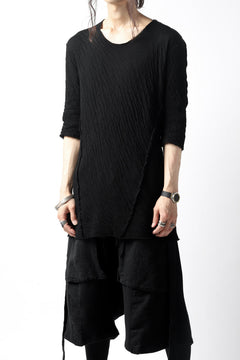 Load image into Gallery viewer, A.F ARTEFACT OUT SEAM H/S T-SHIRT / DOUBLEFACE JERSEY (BLACK x BLACK)