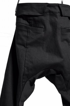 画像をギャラリービューアに読み込む, N/07 Spandex-denim stretch dropslim sarrouel pant (BLACK)