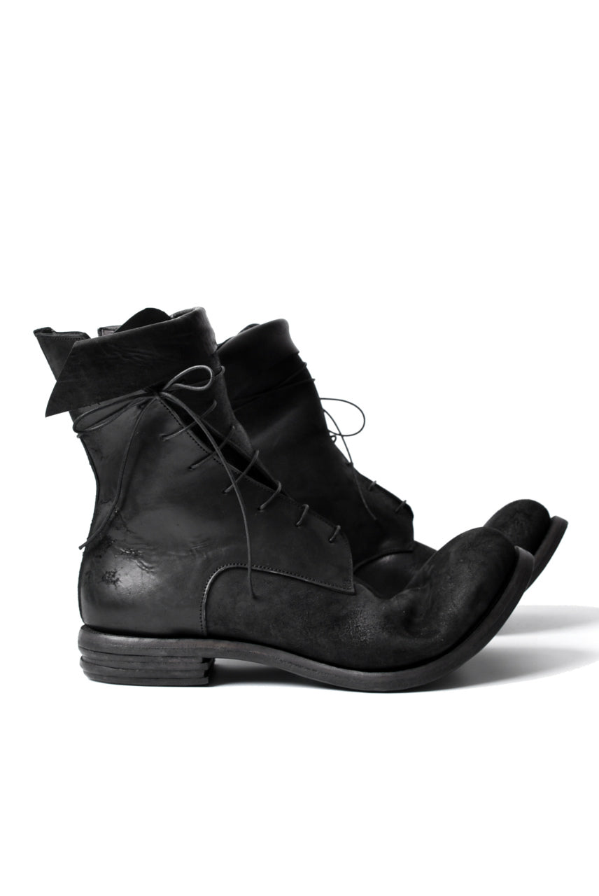 "prtl x 4R4s exclusive Twisted Lace Boots / Cordovan full grain ""No4-5"" (BLACK)"