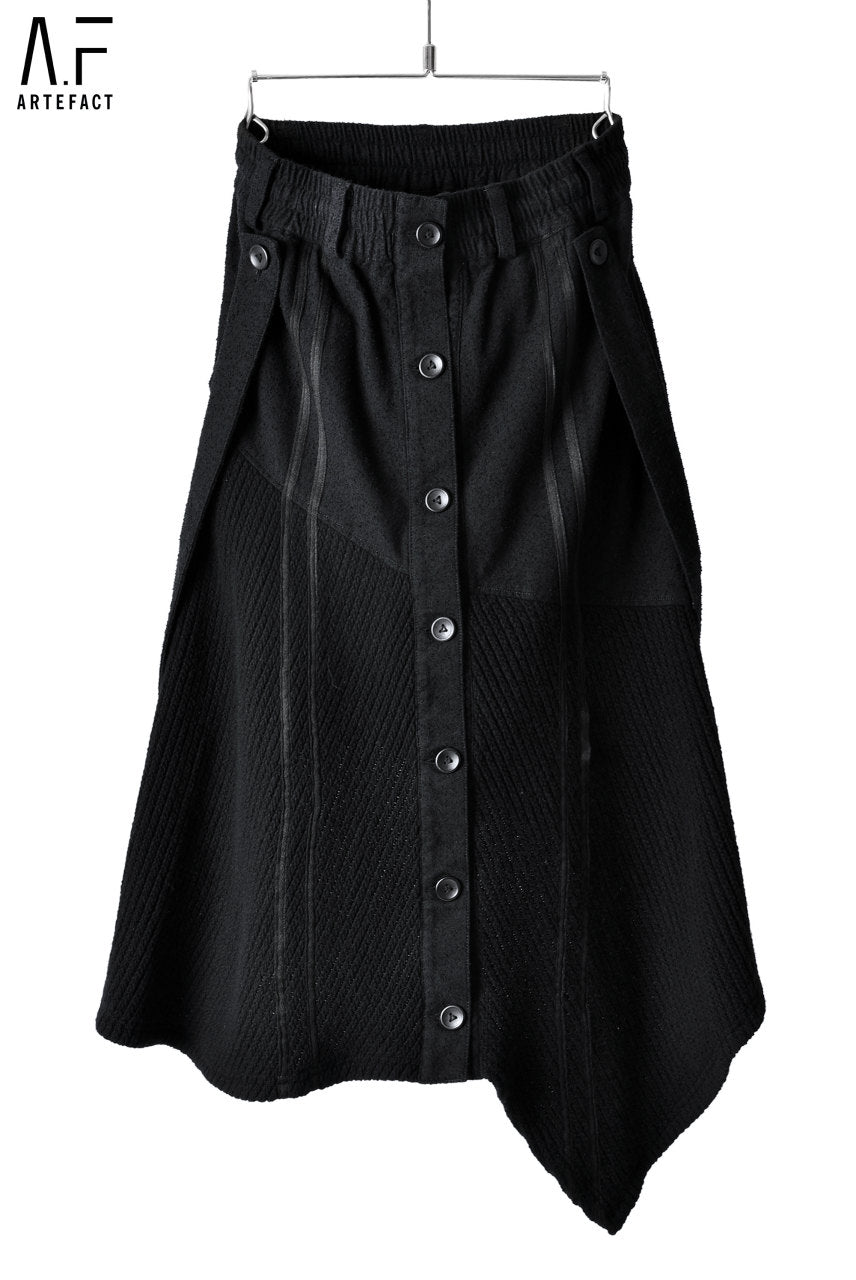 A.F ARTEFACT FEMME SUSPENDER DETAIL BUTTONED SKIRT