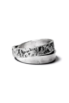 Load image into Gallery viewer, Holzpuppe Double banded Silver ring texture-1