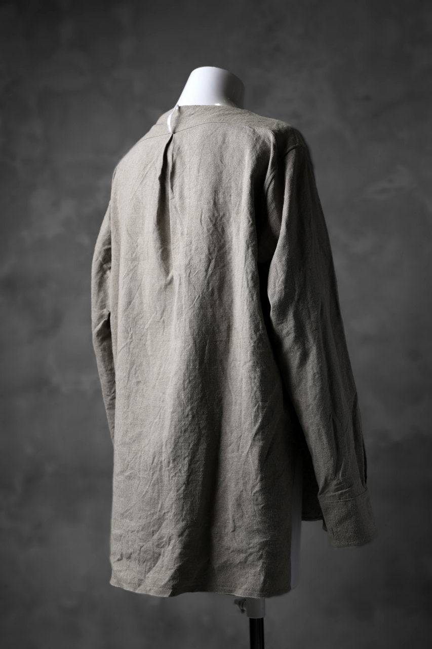 sus-sous shirt pullover / French vintage linen (NATURAL)