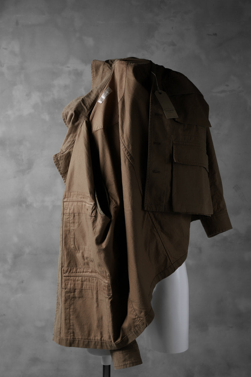 COLINA BDU JACKET / ORGANIC COTTON (CAMEL)