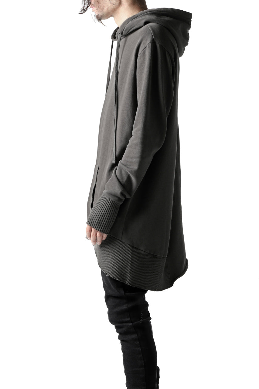 thomkrom BRUSHED BACK LONG HOODIE / FRENCH-TERRY (TAUPE)
