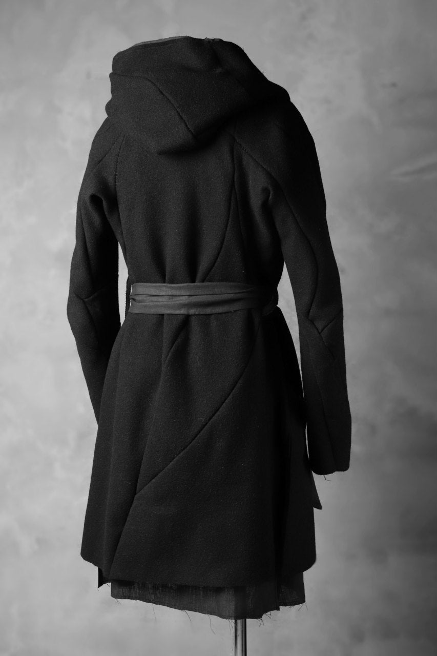 LEON EMANUEL BLANCK exclusive DISTORTION MEDIUM ROBE / HAIRY ALPACA & HEMP (BLACK)