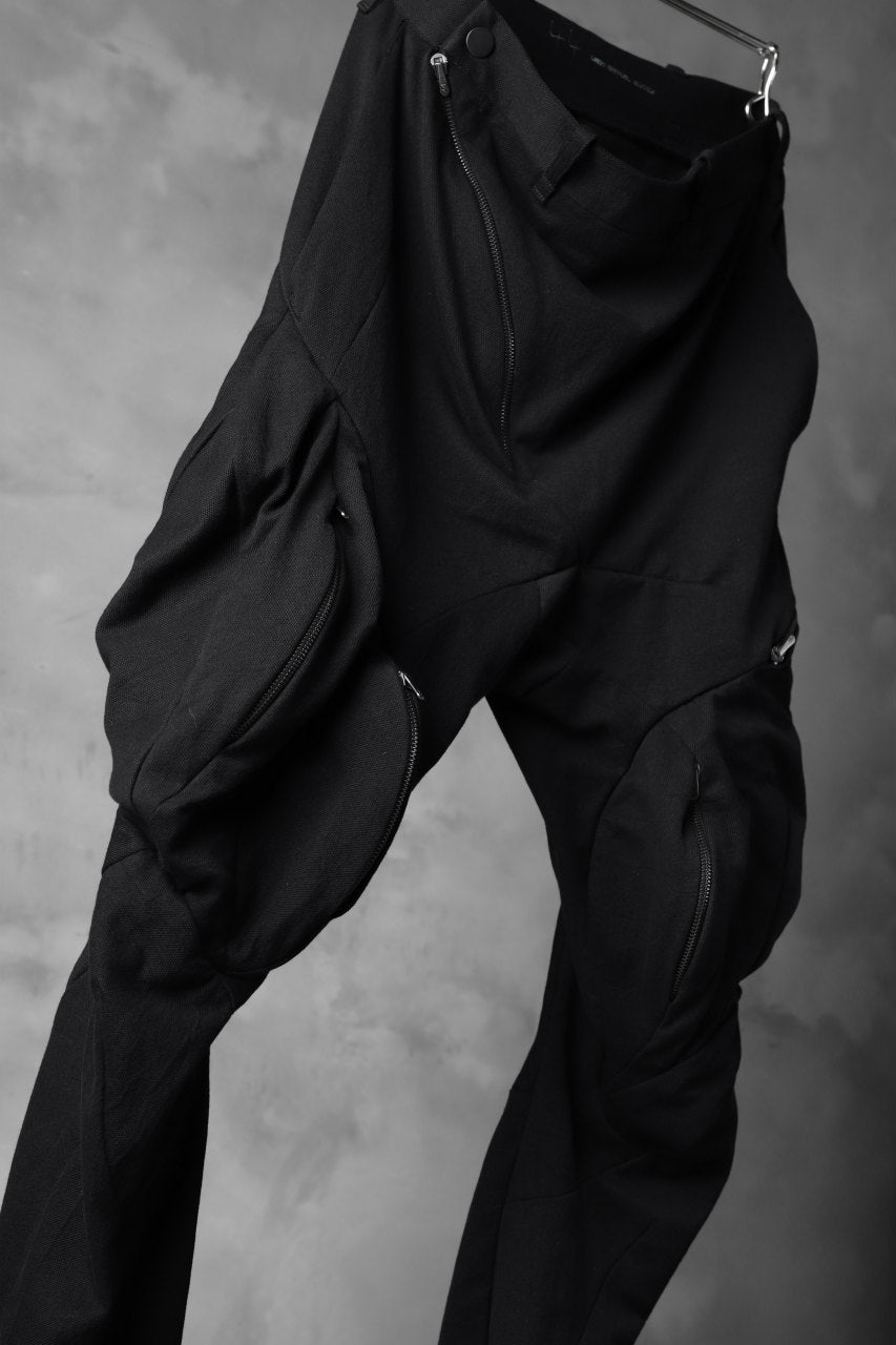 LEON EMANUEL BLANCK exclusive DISTORTION MUSCLE POCKET PANTS / MORPH TWILL (BLACK)