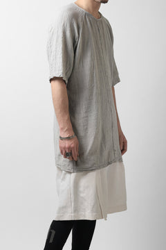 Load image into Gallery viewer, MAVRANYMA RAGLAN H/S TUNICA TOPS / ORGANIC RAW COTTON (DYED GREY)