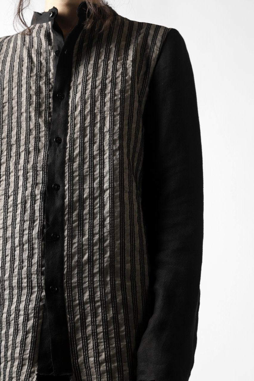 un-namable exclusive Paneled Juke Shirt (Sarti Stripe+Linen)
