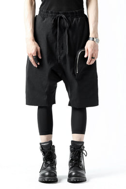 thomkrom RADICAL ZIP-POC DROPCROTCH SHORTS (BLACK)